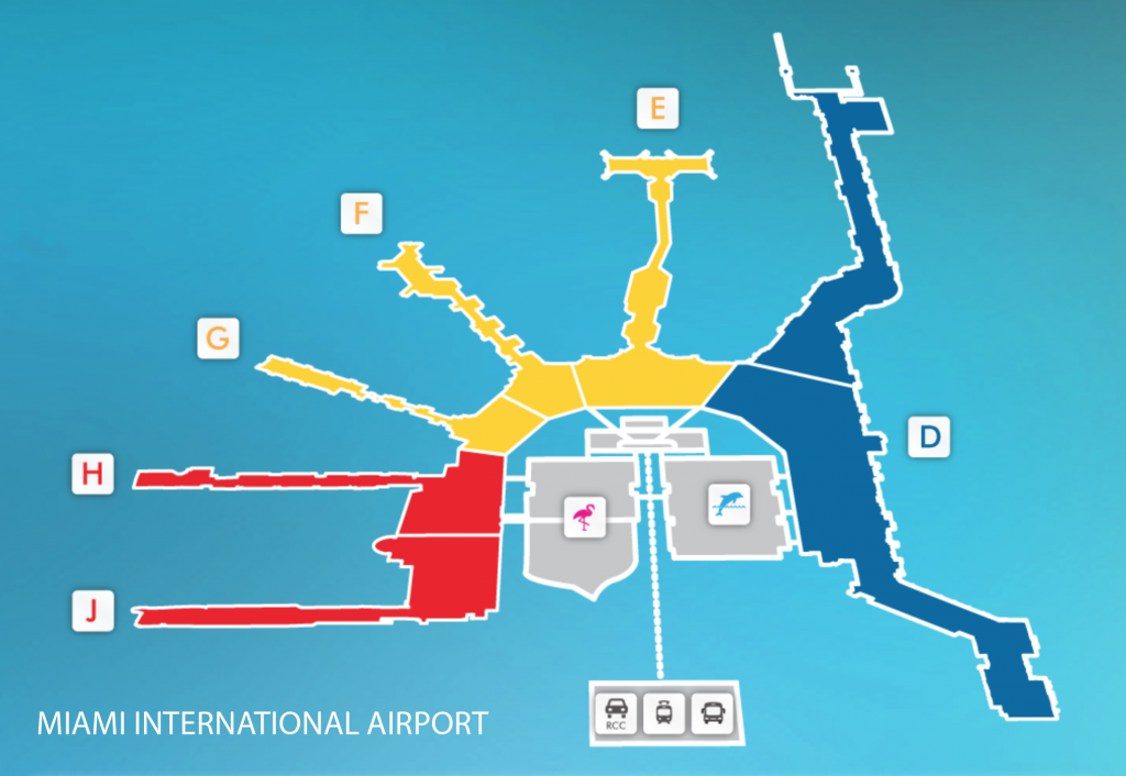 Miami Airport map