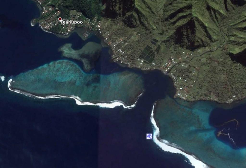 Teahupoo aerial view