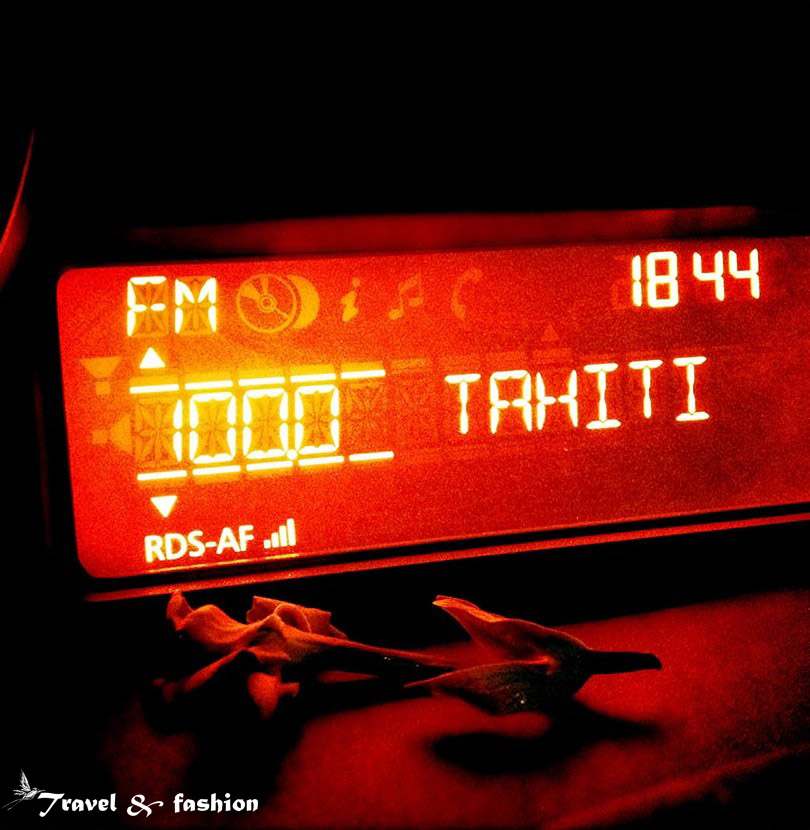 Tahiti: my favorite radio after a good surf session