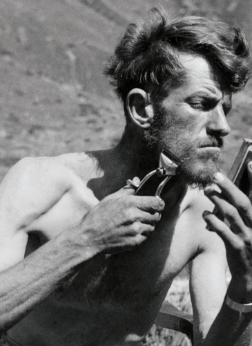 Edmund Hillary first Everest expedition at base camp